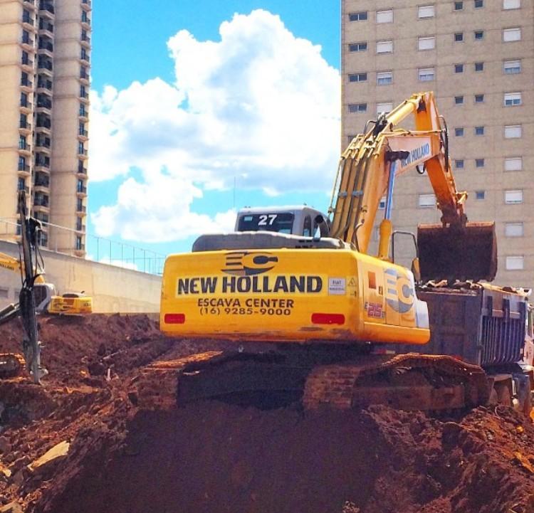 Aluguel de escavadeira hidráulica preço