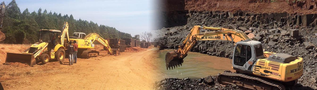 Locação de máquinas de terraplenagem